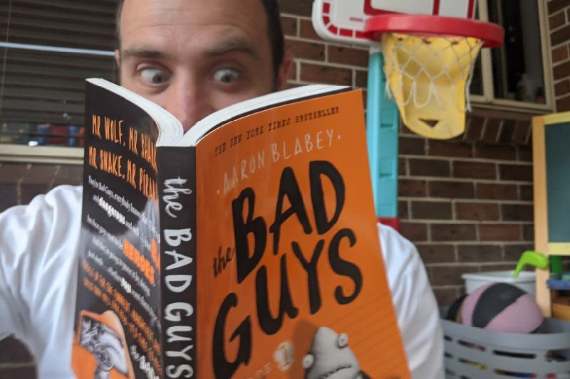 Andrew Dittmer reading The Bad Guys