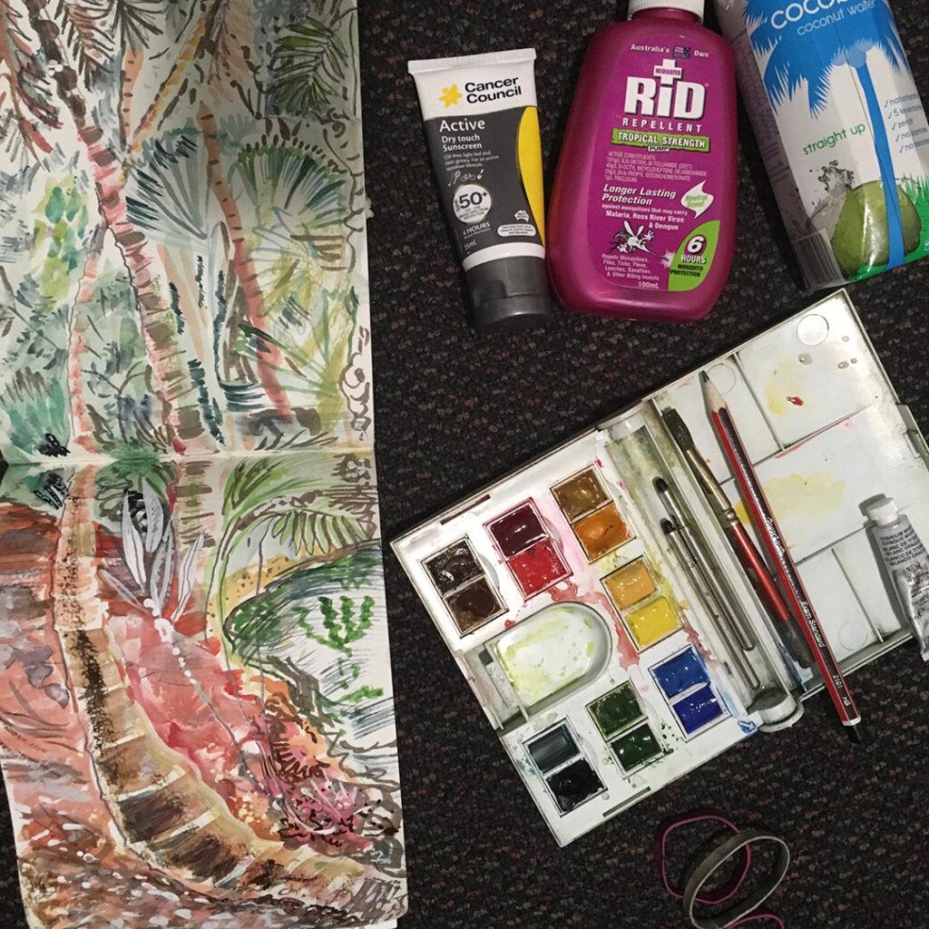 Liz Anelli, sketching kit